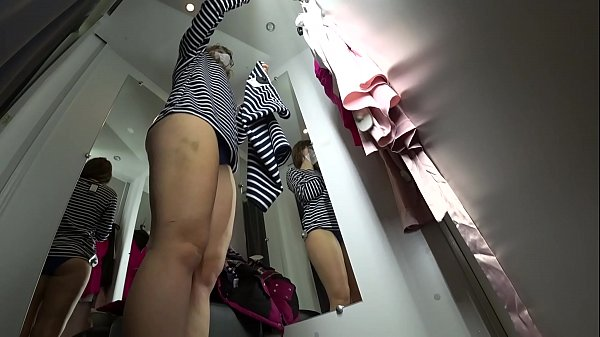 Hidden camera, Dress, Peep, Sexy dress, Long leg, Dressing room