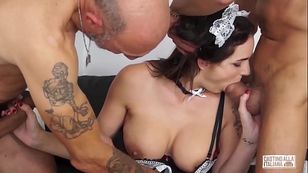 Casting, Casting anal, Anal casting, Italian anal, Mmf, Threesome anal