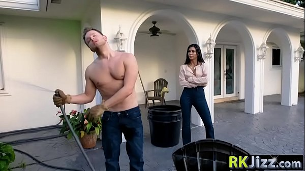Wife cheating, Garden, Gardener, Cheating husband, With, Rich