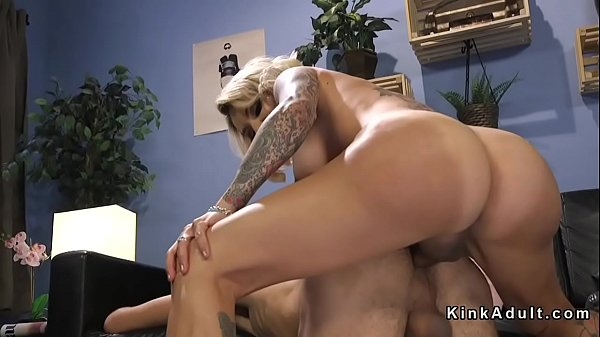 Delivery, Anal fuck, Anal blonde, Tranny fuck guy