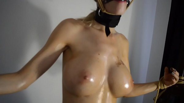 Oil, Machine, Tied up, Use, Fucking machines, Tied up and fucked
