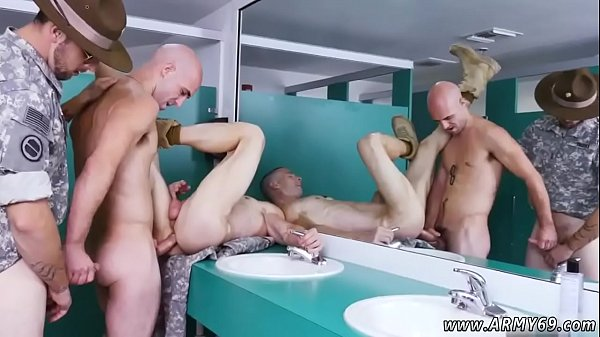 Training, Gay army, Male, Male anal, Anal train