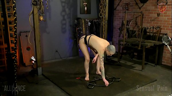 Slave, Demo, Device bondage, Dungeon, Sex slave, Table sex