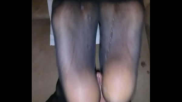 Pantyhose, Black pantyhose, Pantyhose footjob, Homemade cumshot