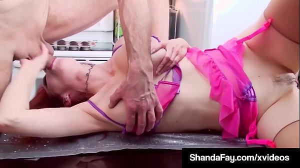 Kitchen, Faye, Hot blowjob, Shanda fay
